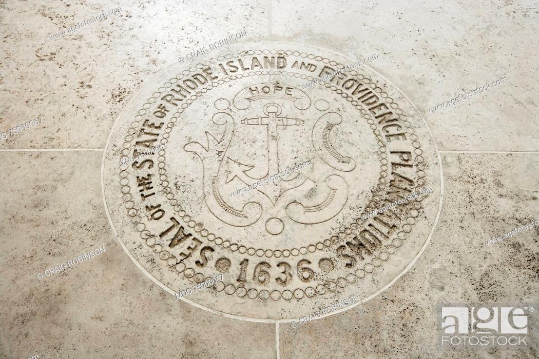 Stock Photo: Seal of Rhode Island in Fort Bonifacio, Manila, Philippines.