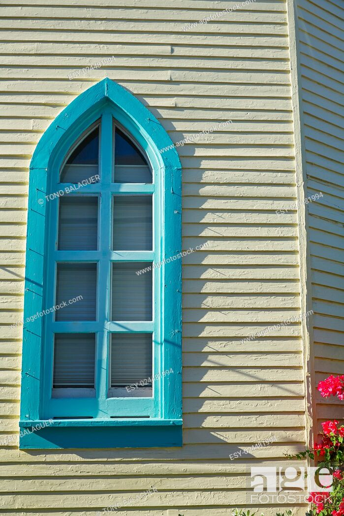Imagen: Key west downtown street houses facades in Florida USA.