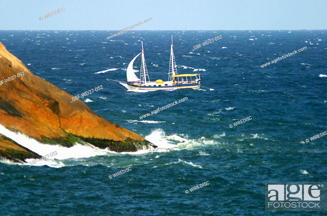Stock Photo: Beaches, sea, nature, coast line, Brazil.