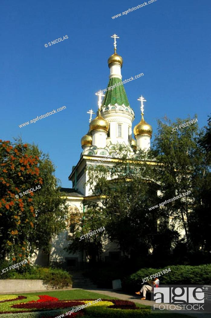 Stock Photo: Bulgaria, Sofia, Russian Church of St Nicholas.