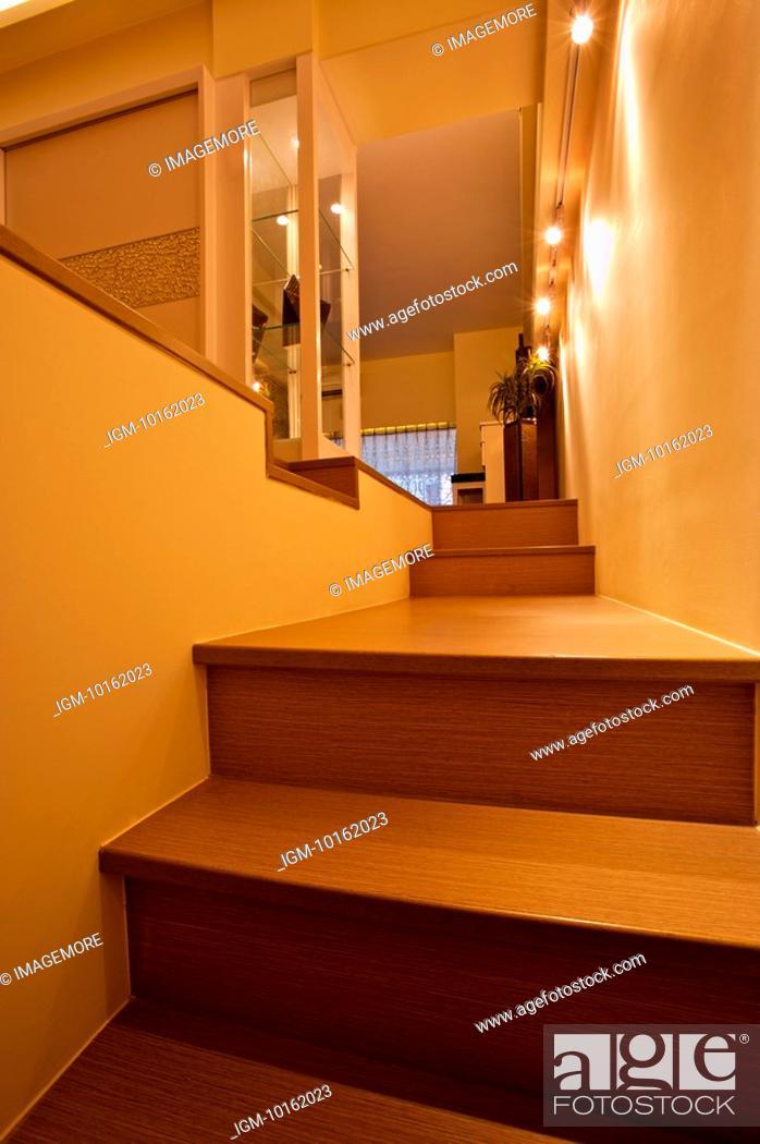 Stock Photo: Modern Interior Design - Staircase.