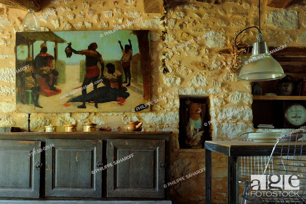 Stock Photo: Dinner Room, Provence, France.