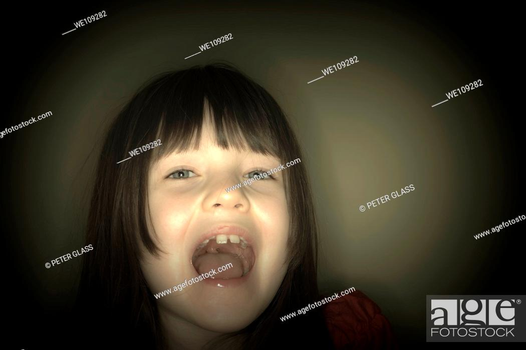 Stock Photo: Young girl posing.