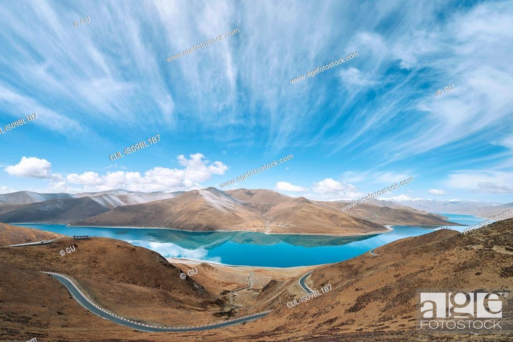 Stock Photo: Noijin Kangsang Peak, Gyangzê, Xizang, China.
