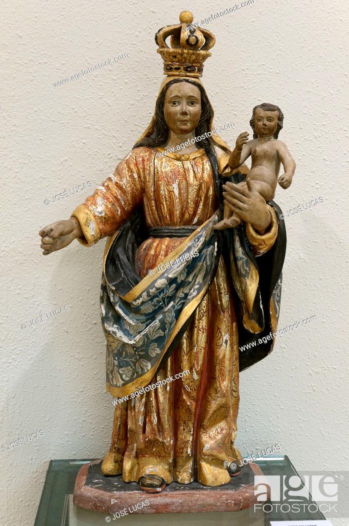 Stock Photo: Provincial museum, Virgen del Carmen (17th century), Lugo, Region of Galicia, Spain, Europe.