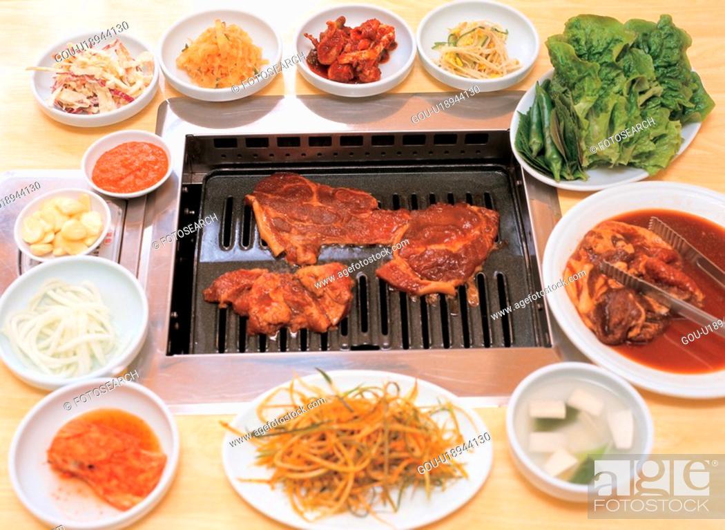 Stock Photo: korean cuisine, food, korean food, cuisine, koreanfood, film.