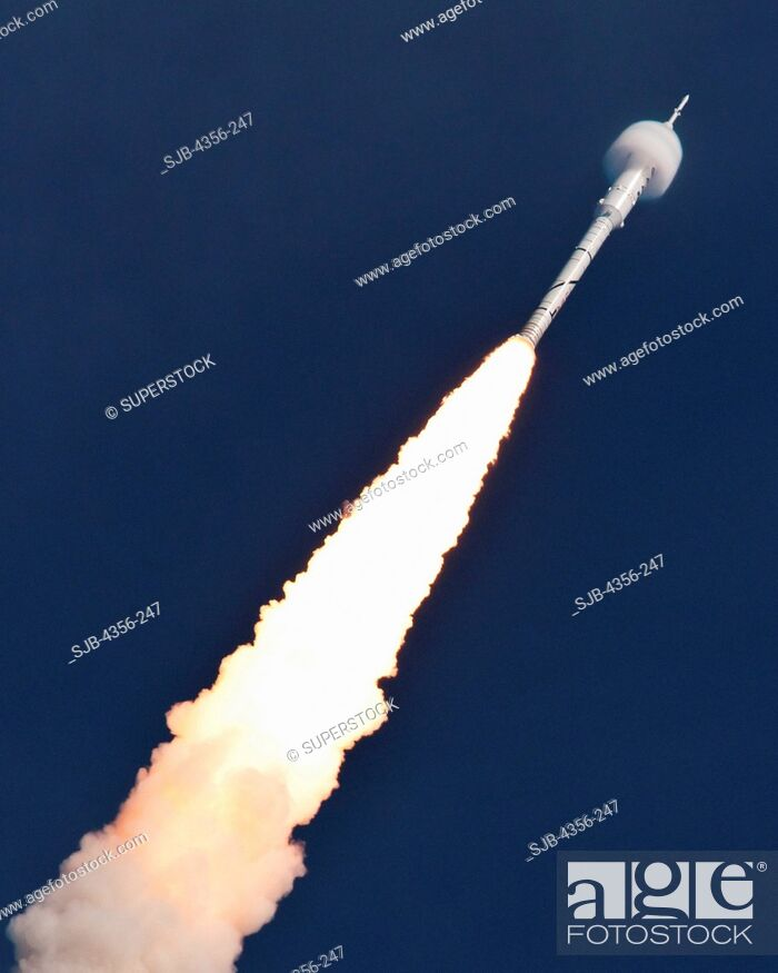 Stock Photo: Ares I-X -- First Flight of a New Moon Rocket.