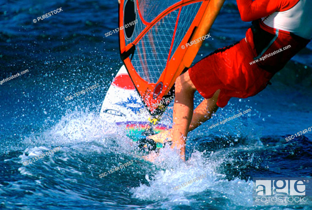 Stock Photo: Windsurfing.