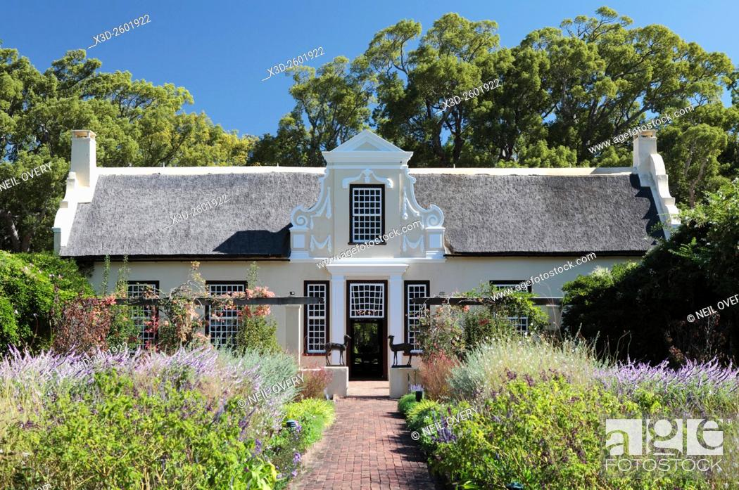 Stock Photo: Vergelegen Wine Estate, Western Cape, South Africa.