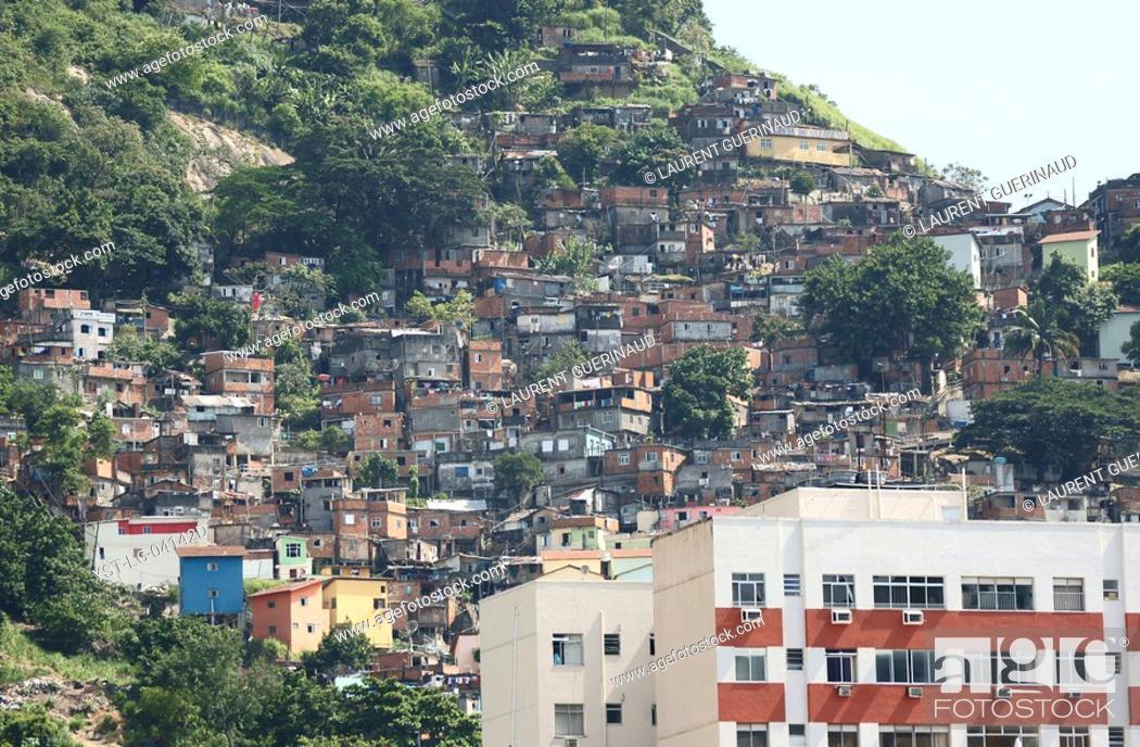 Stock Photo: Slum, Rio de Janeiro, Brazil.