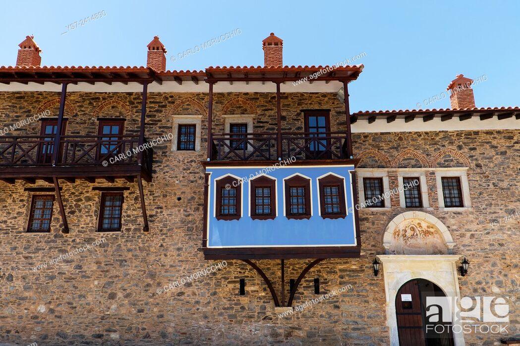 Stock Photo: Moni Megalis Panagias Monastery, Samos island, North Aegean islands, Greece, Europe.