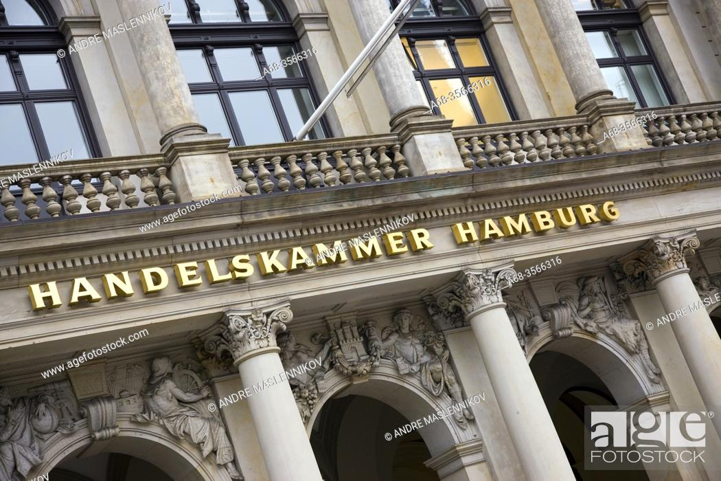 Stock Photo: Chamber of commerce in Hamburg. Germany. Photo: André Maslennikov.