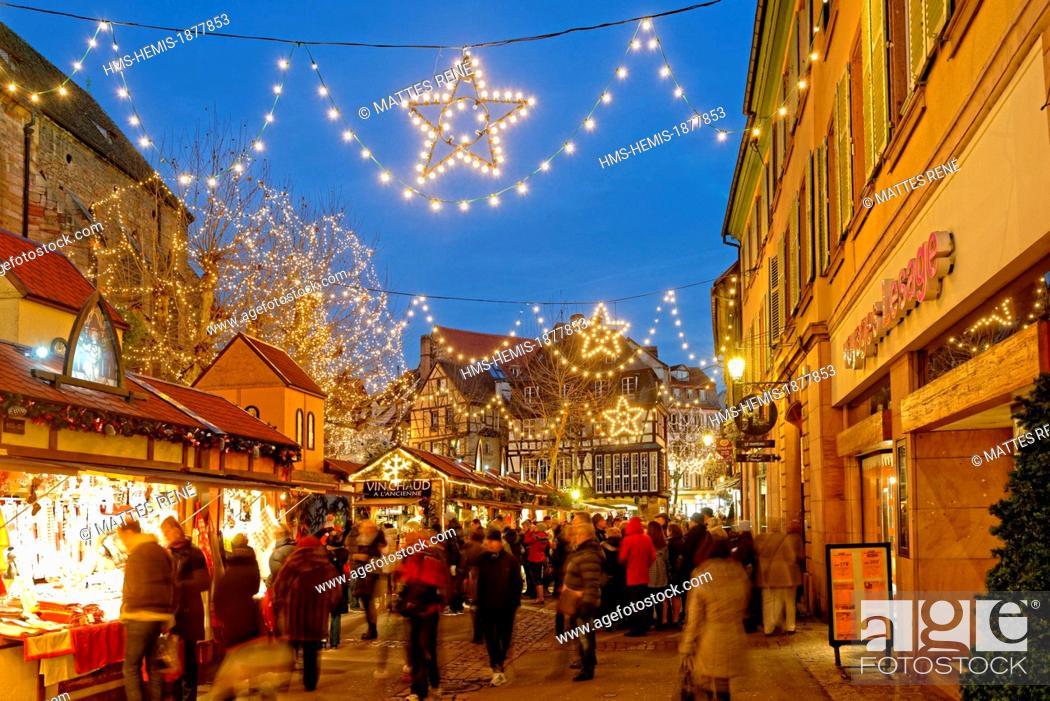 Colmar Christmas Market.France Haut Rhin Colmar Christmas Market At Place Des