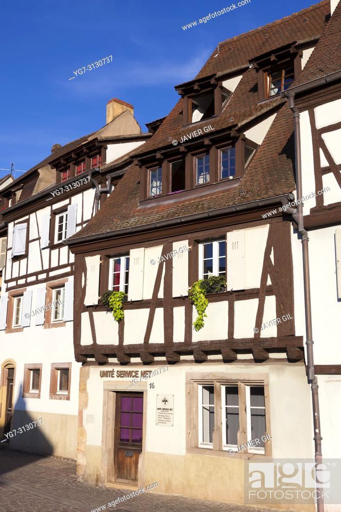 Stock Photo: Architecture of Colmar, Haut-Rhin, Grand Est, France.
