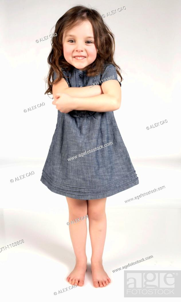 Stock Photo: Girl with arms crossed.