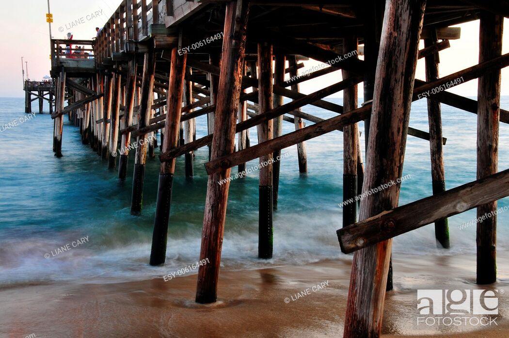 Stock Photo: Newport pier.