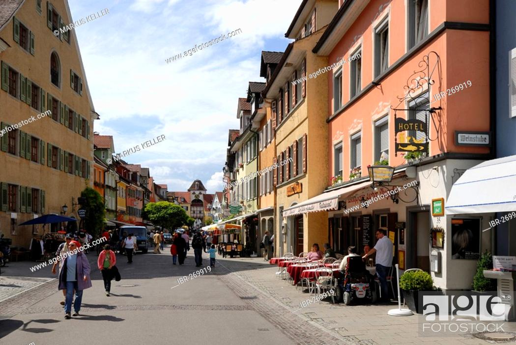 Stock Photo: Old part of town, Meersburg, Baden Wuerttemberg, Germany, Europe.