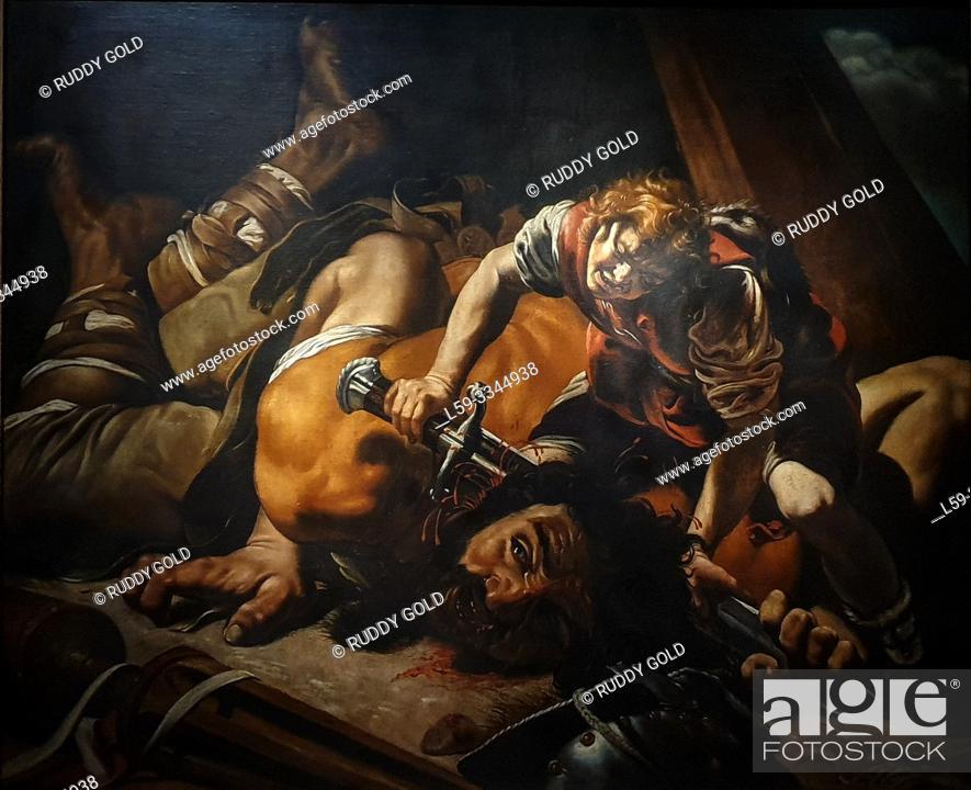 Stock Photo: 'David and Goliath', 1607/08, Orazio Borgianni (1578-1616).
