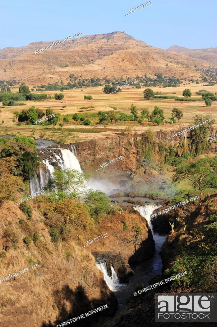 Stock Photo: The Blue Nile near Tis Isat. Bahir Dar region. Ethiopia.