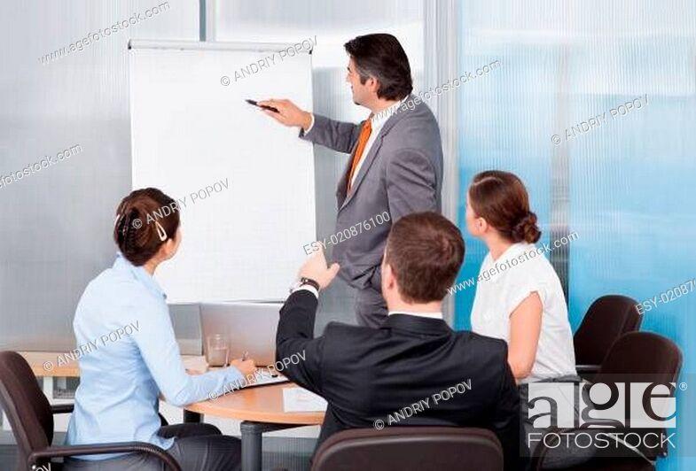Photo de stock: Businessman Giving Presentation.