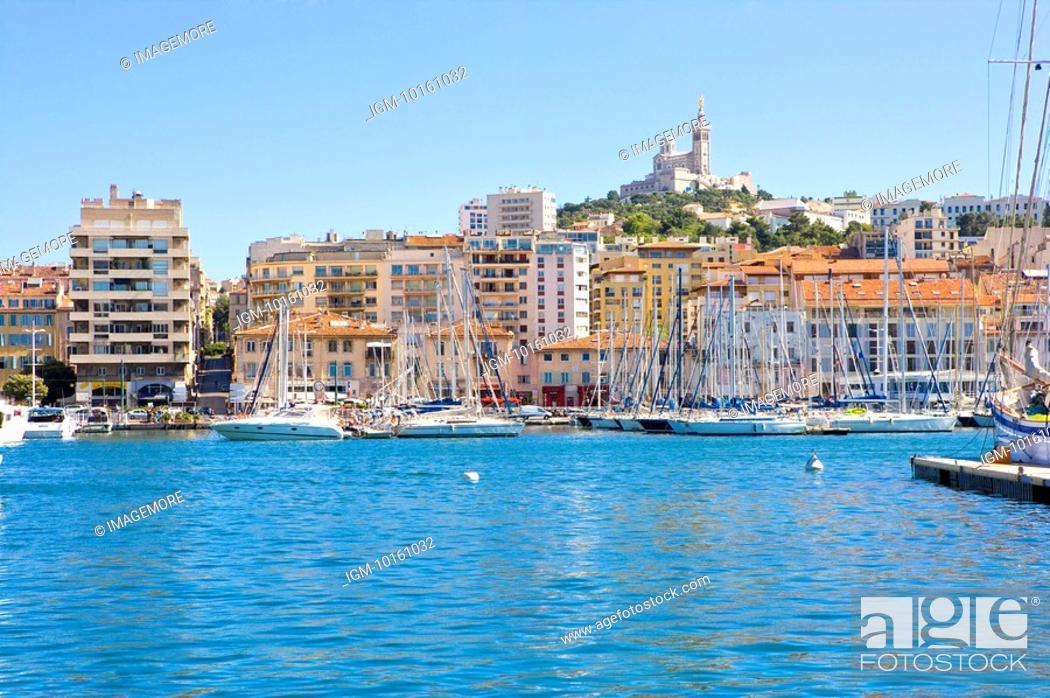 Stock Photo: Vieux Port in Marseille, Provence-Alpes-Cote d'Azur, France.