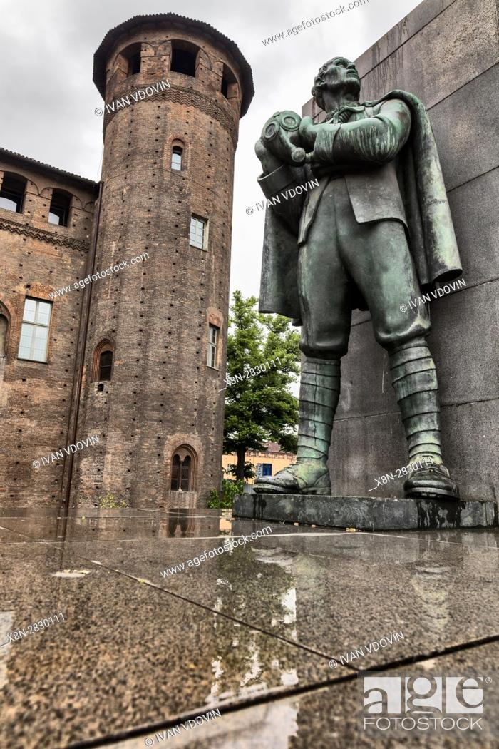 Stock Photo: Emanuele Filiberto Duca d'Aosta Monument, Turin, Piedmont, Italy.