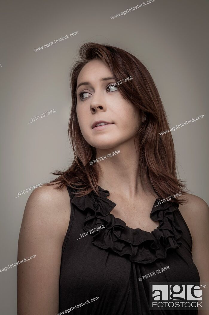 Stock Photo: Young woman.