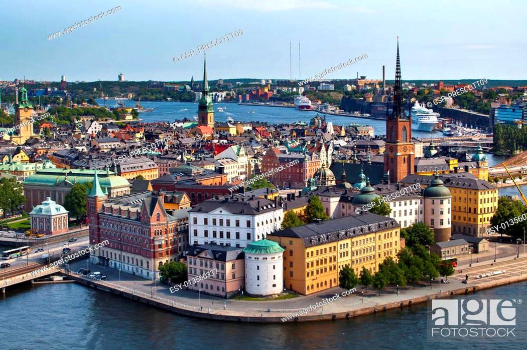 Stock Photo: Classic view of Stockholm, Sweden.