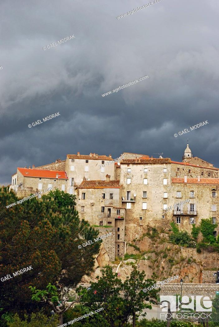 Stock Photo: The village of Sartène in the south of Corsica island, France.