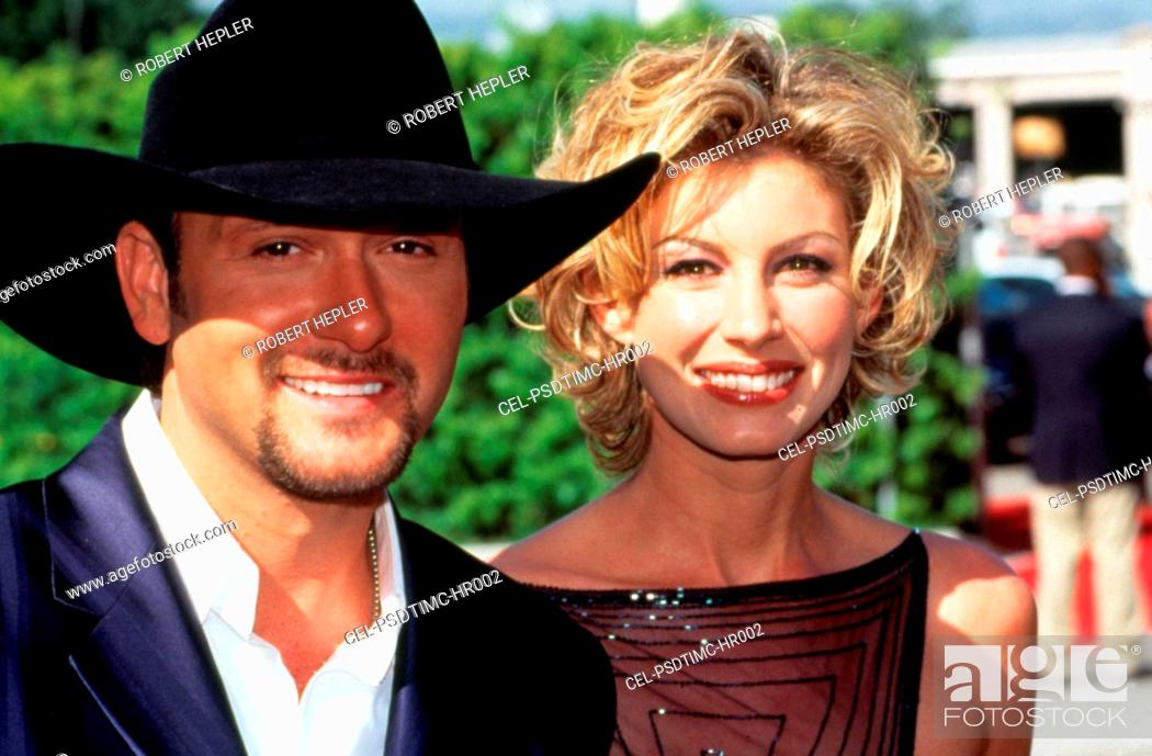 Stock Photo: TIM McGRAW and wife FAITH HILL at 1999 Academy of Country Music Awards. Photo by Robert Hepler.
