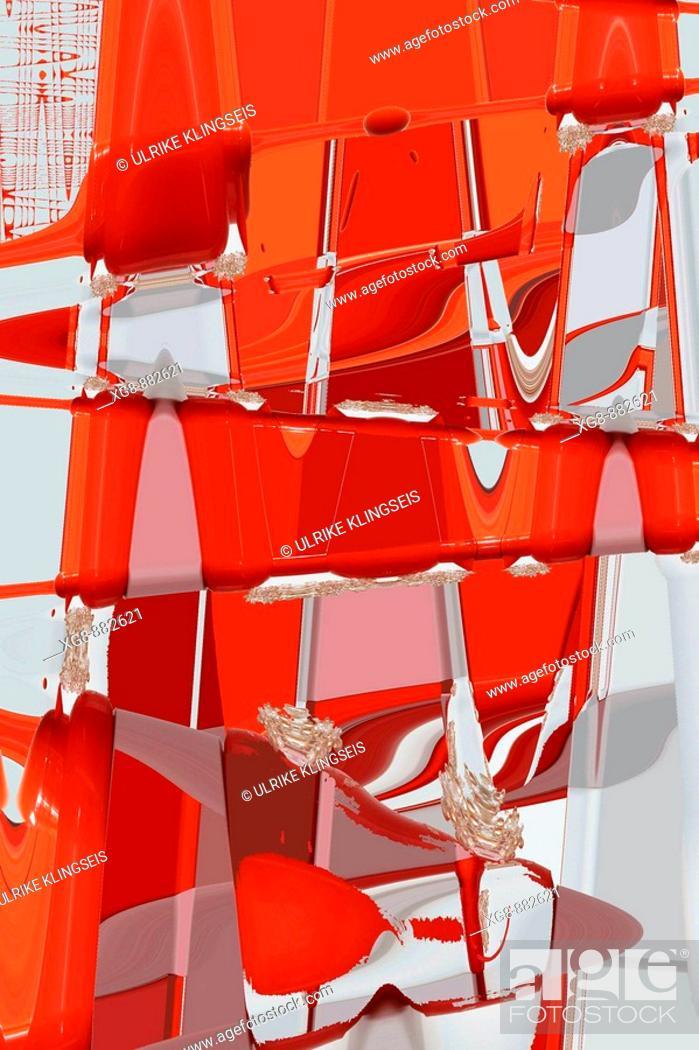 Stock Photo: orange-red pattern.