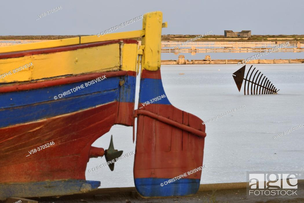 Stock Photo: France, Aude, Gruissan, Salin de Saint Martin (Saint Martin Salt flats).