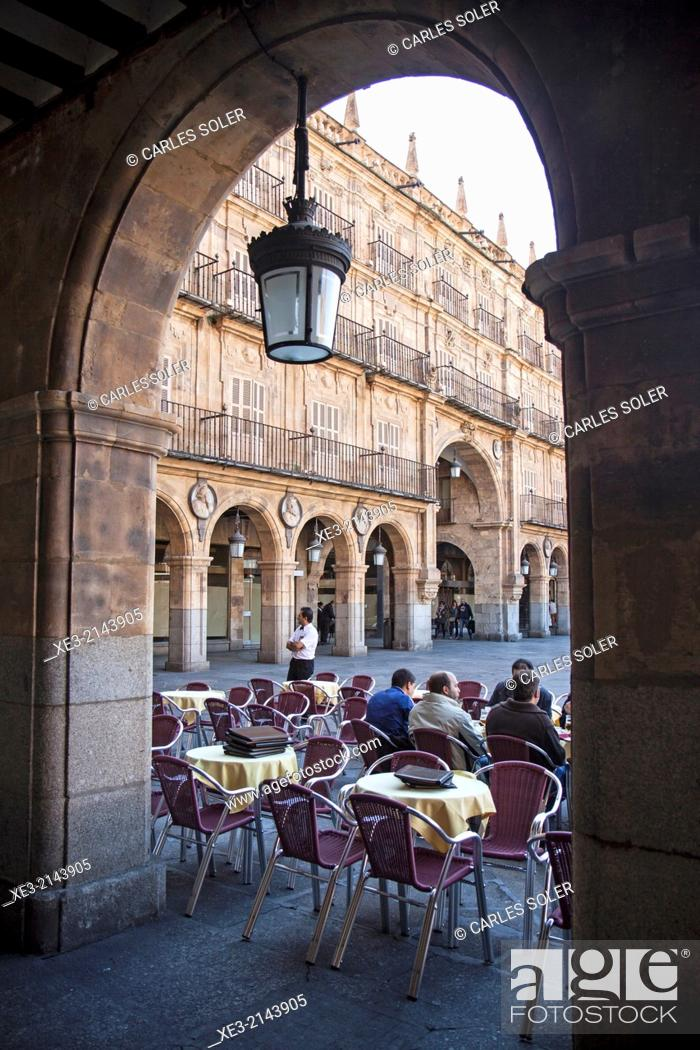 Stock Photo: Plaza Mayor, Salamanca.