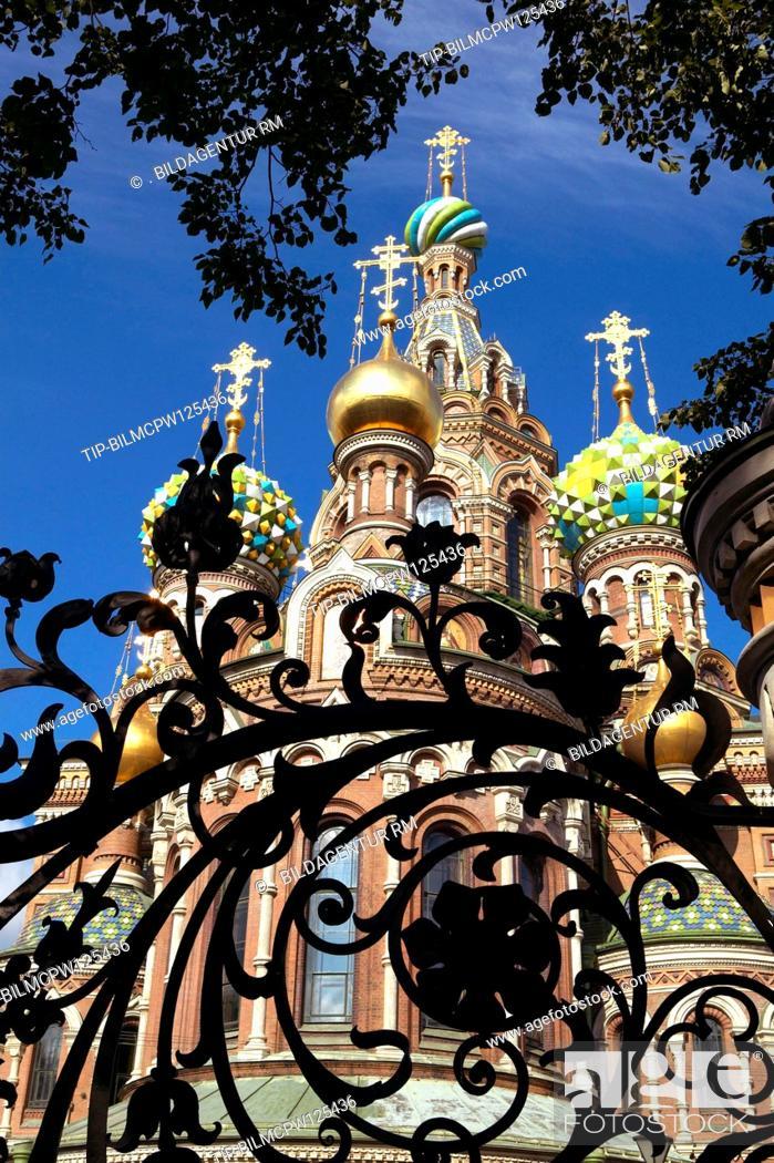 Stock Photo: Sankt Petersburg, Auferstehungskirche Blutskirche, Russia Saint Petersburg resurrection church.