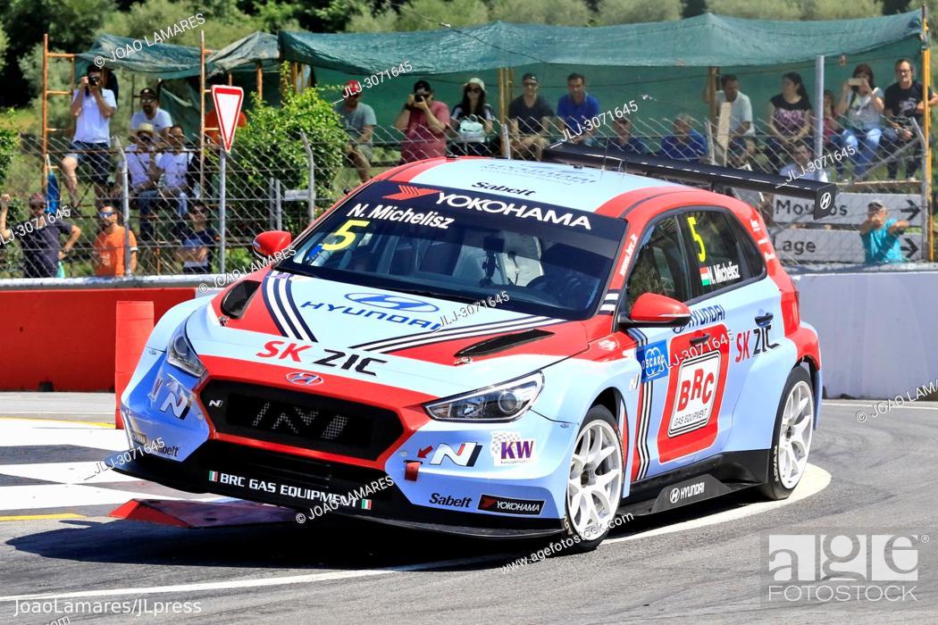 Stock Photo: WTCR 2018: Vila Real. Race of Portugal, Pratice Action. Michlisz Hyundai i30 N TCR #5.