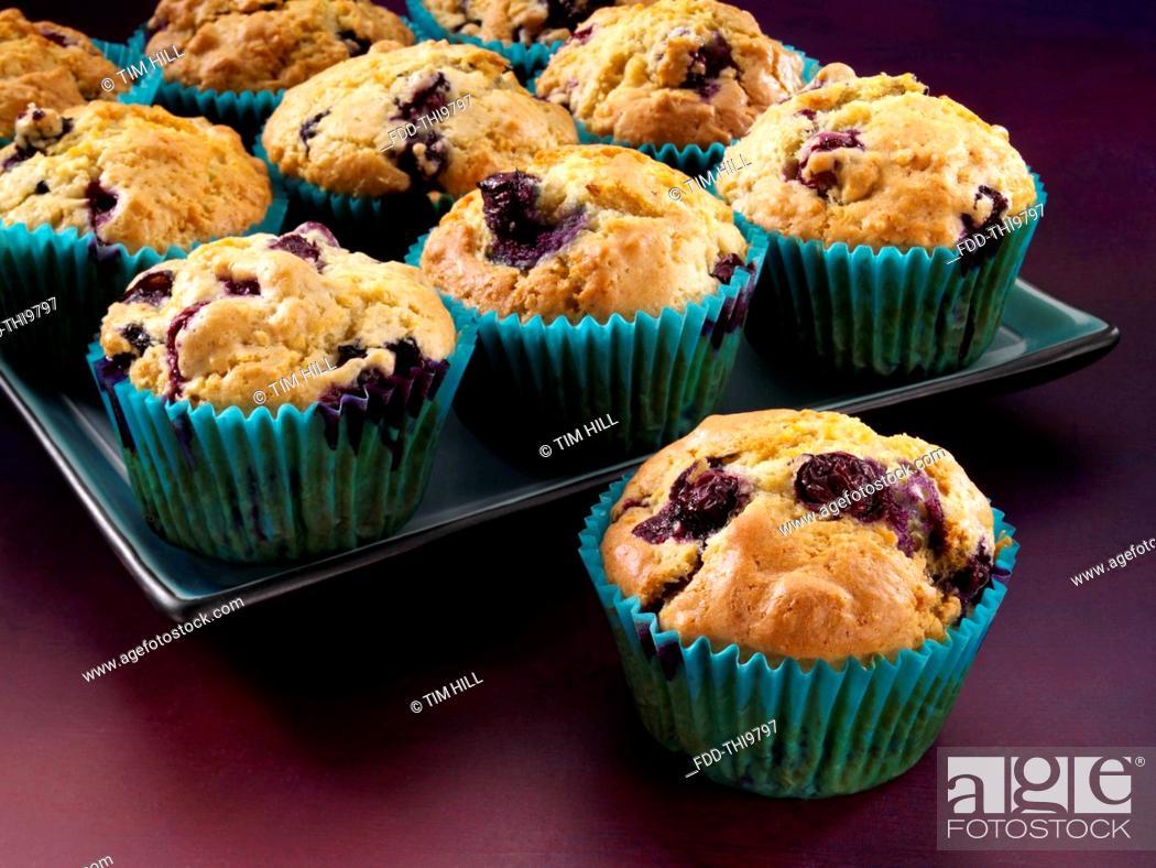 Imagen: Blueberry muffins.