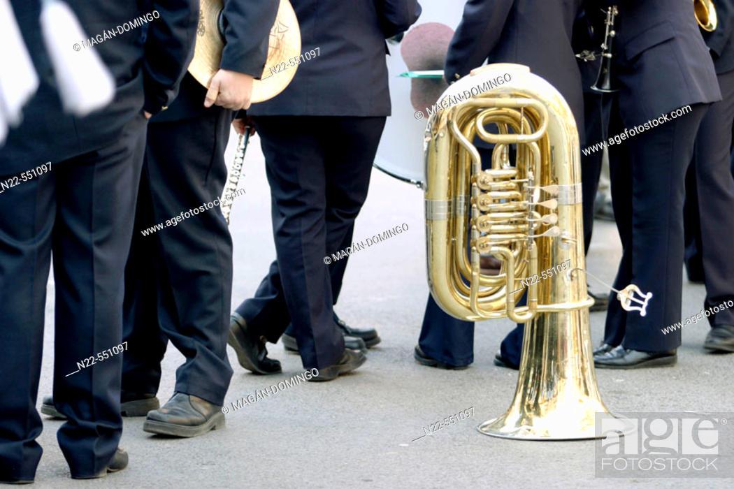Stock Photo: Musicians, Valencia. Comunidad Valenciana, Spain.