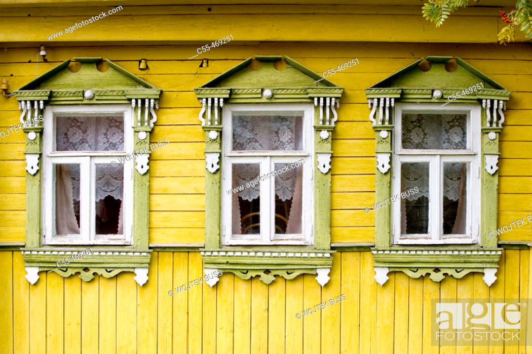 Stock Photo: Typical houses, Suzdal. Golden Ring, Russia.