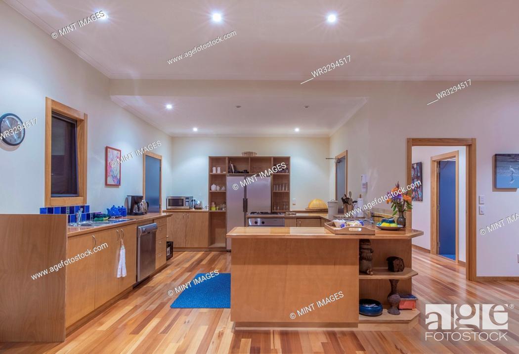 Stock Photo: Lodge kitchen.