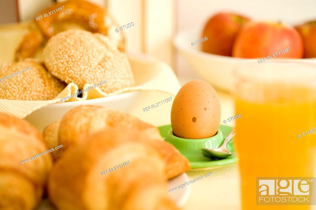 Stock Photo: Continental breakfast still life.
