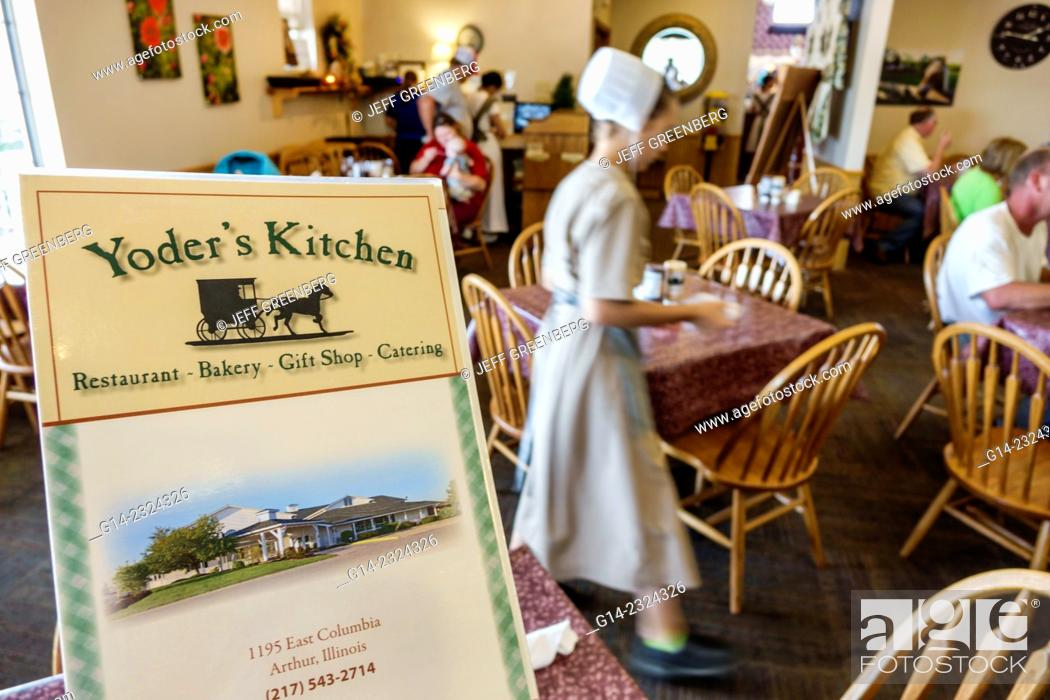 Yoder S Kitchen Amish Restaurant Menu Arthur Illinois Usa Stock Photo Picture And Rights Managed Image Pic G14 2324326 Agefotostock