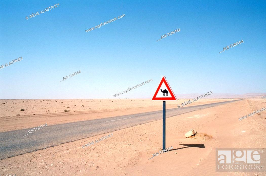 Stock Photo: Tunisia - The South - Chott el Jerid Region - Montain Oasis - Tozeur Region.