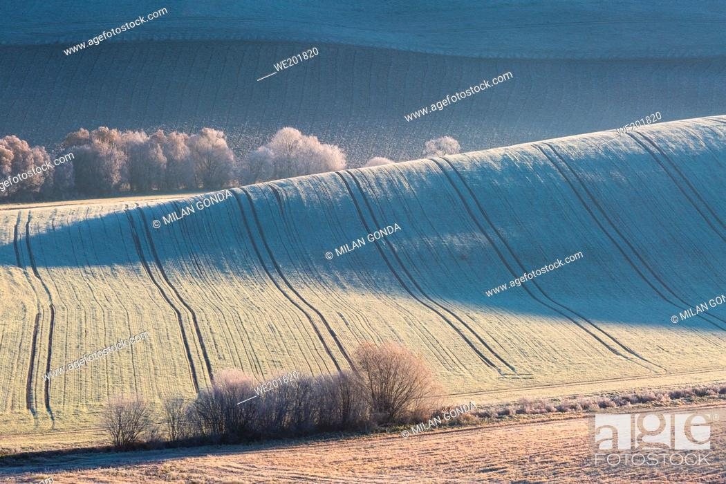 Stock Photo: Rural landscape of Turiec region in northern Slovakia.