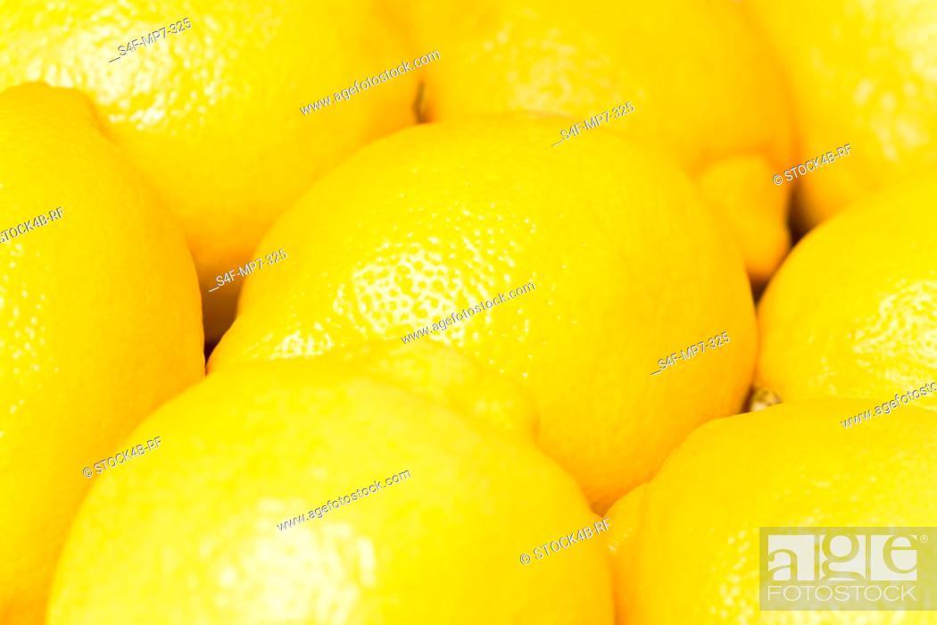 Stock Photo: Detail of lemons.