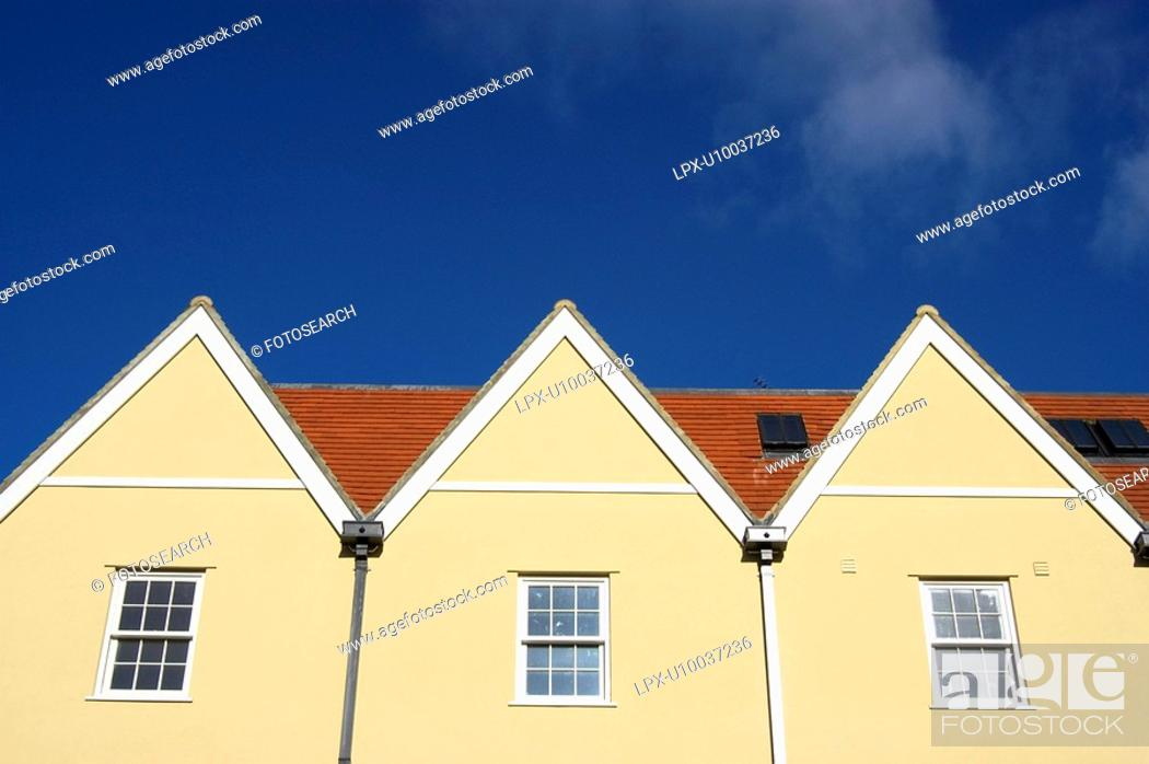 Stock Photo: New property development.