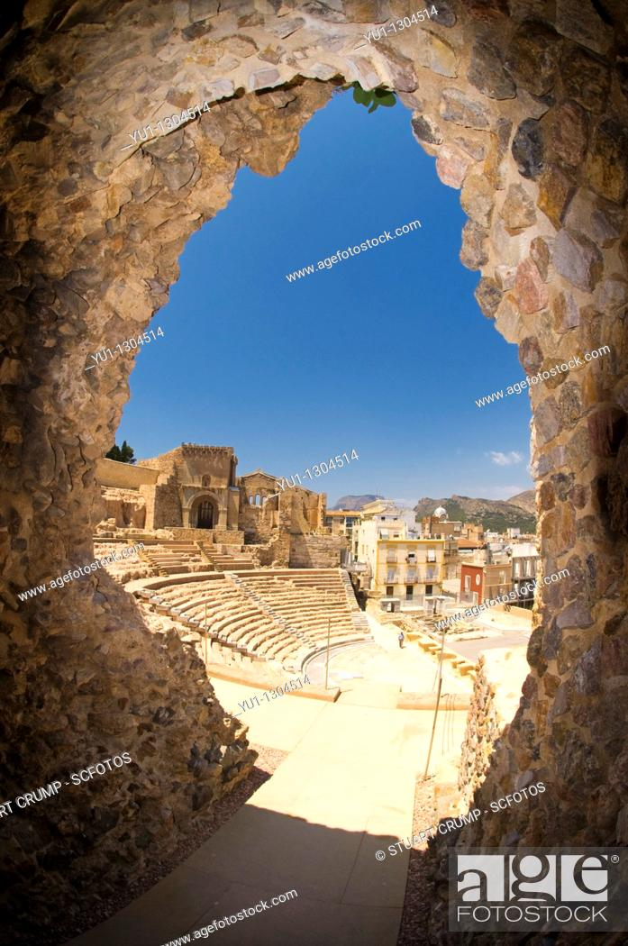 Photo de stock: Roman Amphitheatre in Cartagena, Murcia, Spain.