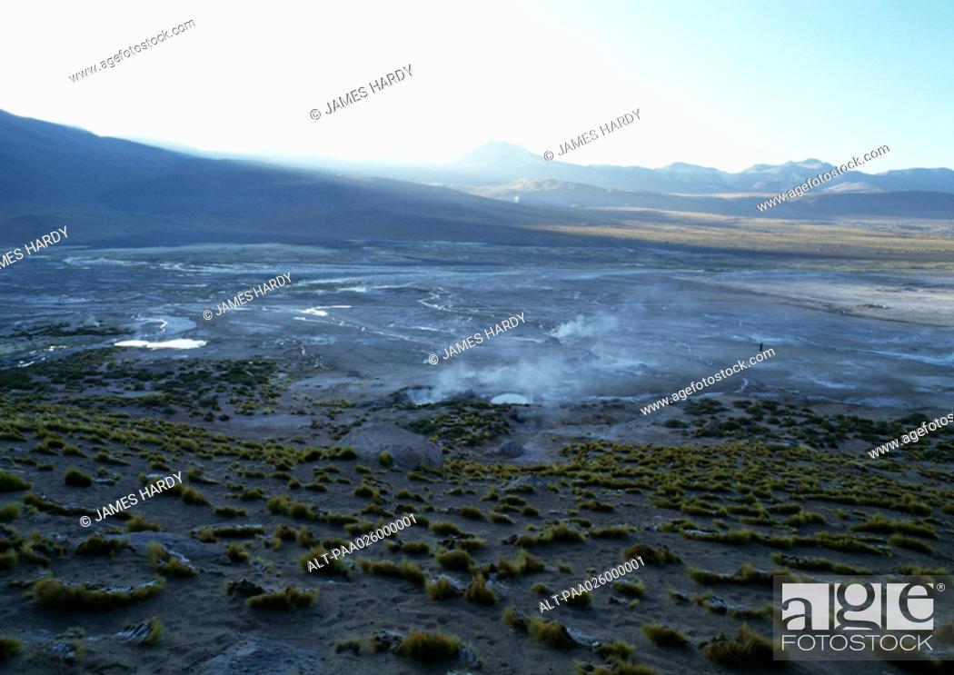 Stock Photo: Chile, El Norte Grande, El Tatio Geysers.