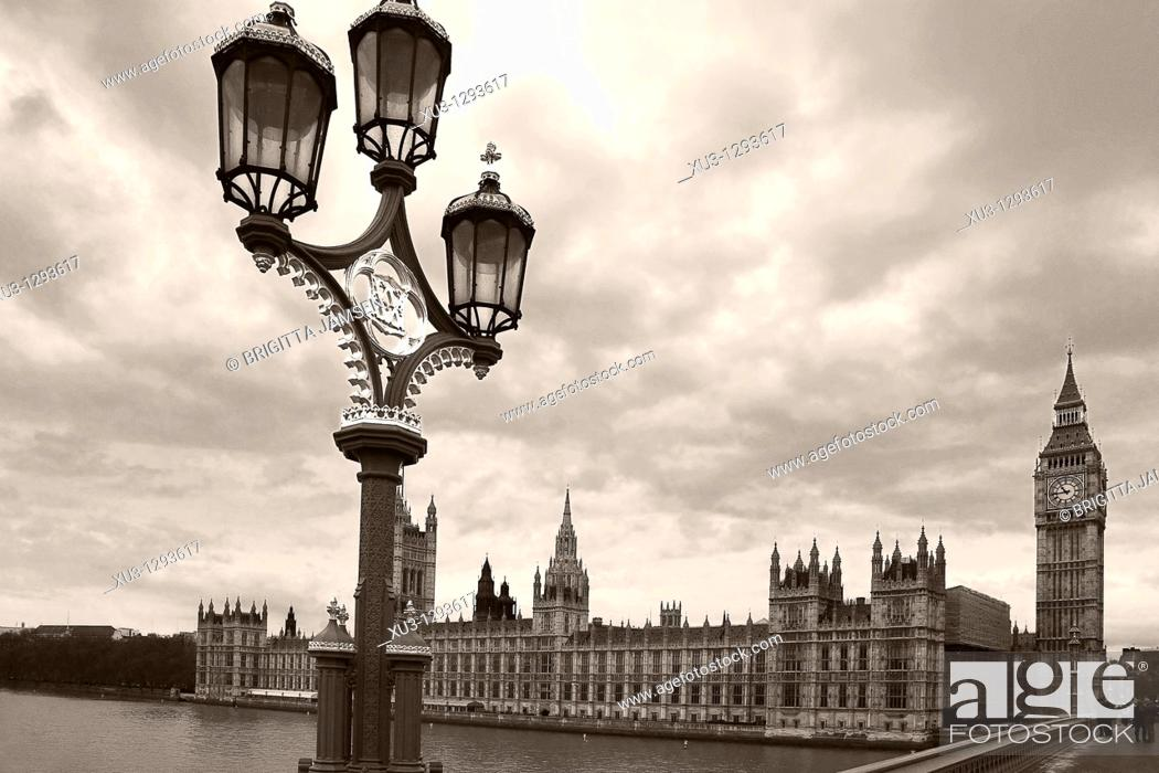 Stock Photo: Big Ben, London, England.
