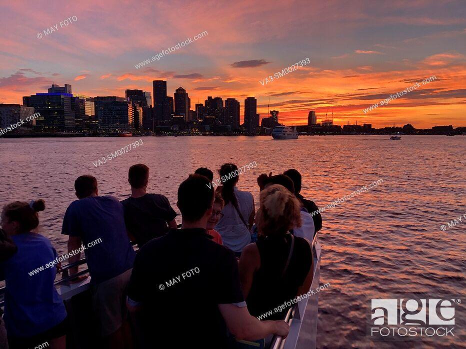 Stock Photo: Boston bay, Boston, Massachusetts, United States.