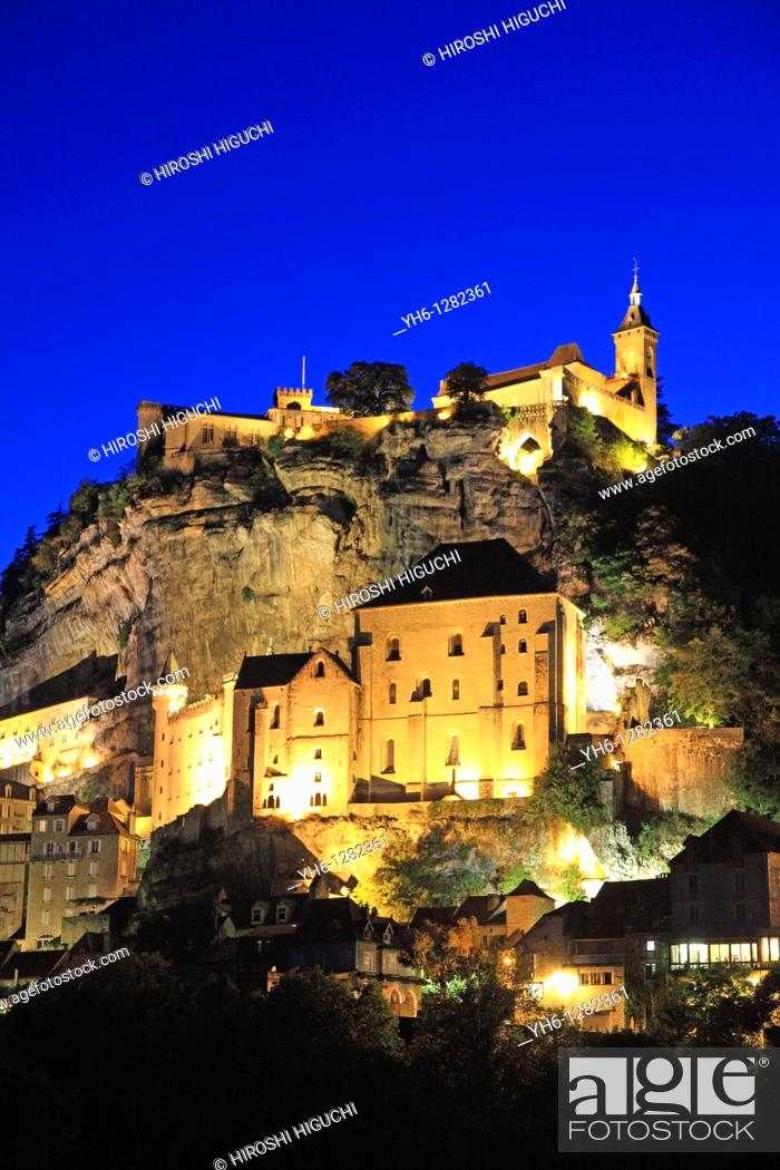 Stock Photo: France, Midi-Pyrenees, Lot, Rocamadour.